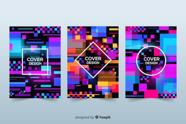 Capa de design com efeito de falha colorida