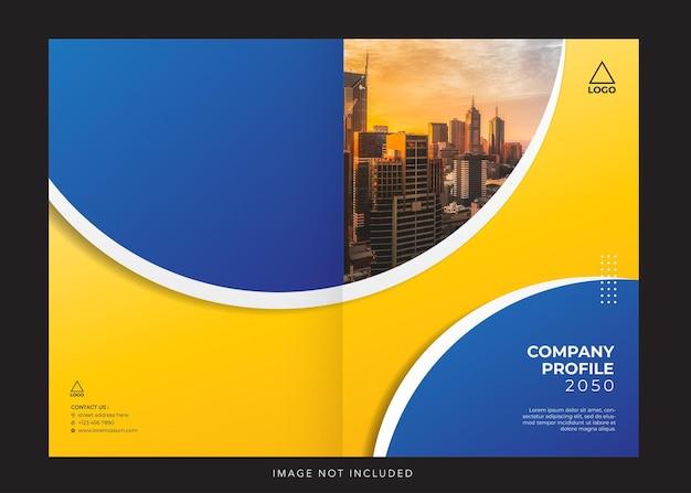 Capa de design de perfil de empresa corporativa