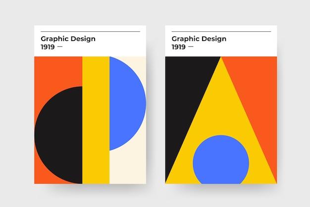 Capa de design gráfico no estilo bauhaus