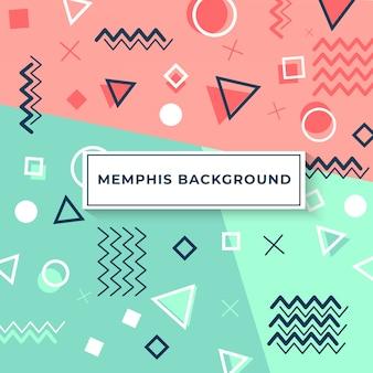Capa de estilo de memphis com formas geométricas e padrões