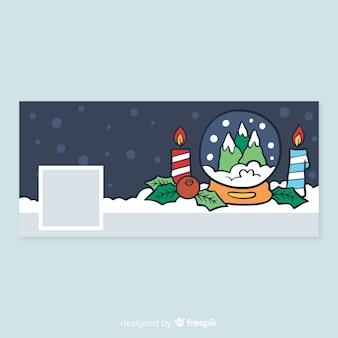 Capa de facebook de design de natal