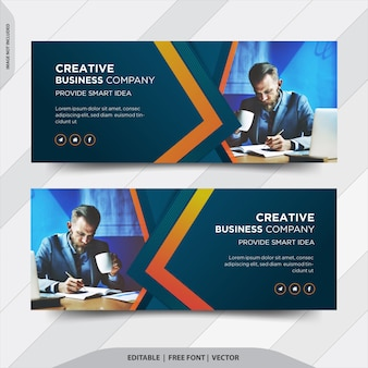 Capa de facebook de empresa de negócios criativos
