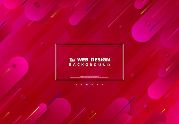 Capa de gradiente rosa vívida abstrata de fundo de página da web.