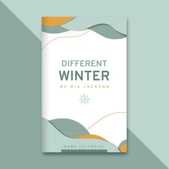 Capa de livro elegante abstrata de inverno