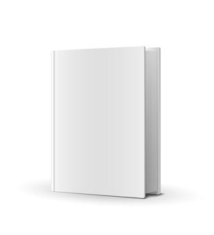 Capa de livro em branco sobre ilustração vetorial branca
