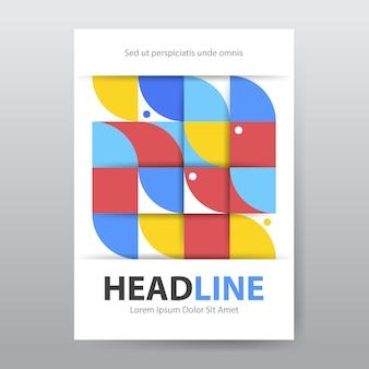 Capa de livro geométrica colorida abstrata