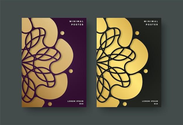 Capa de livro luxuosa com motivos florais