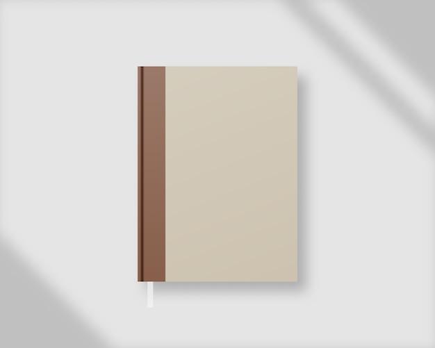 Capa de livro . modelo de capa de livro vazio com sobreposição de sombra. brincar . modelo de design.