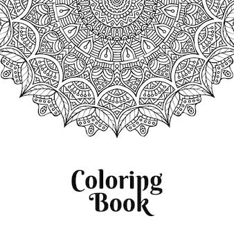 Capa de livro para colorir mandala
