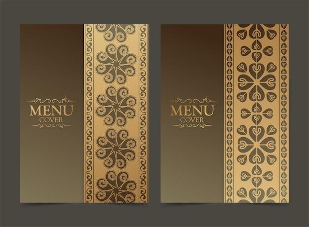 Capa de menu premium de luxo