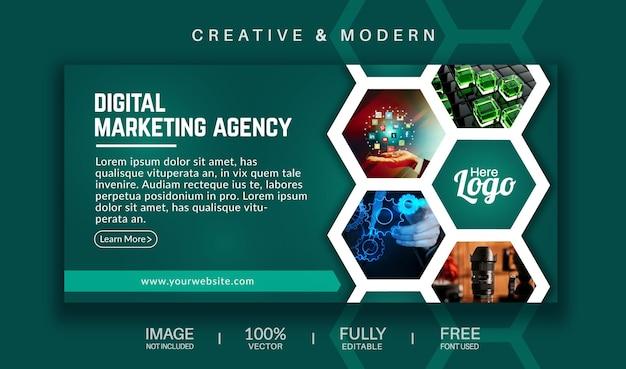 Capa de mídia social e modelo de banner da web