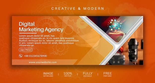 Capa de mídia social e modelo de vetor de banner da web