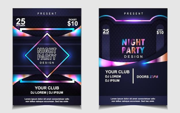 Capa de música pôster flyer design plano de fundo com efeito de luz colorida