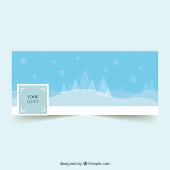 Capa de natal do facebook em um estilo minimalista