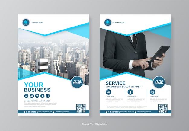 Capa de negócios corporativos e modelo de design de folheto a4 página traseira para impressão