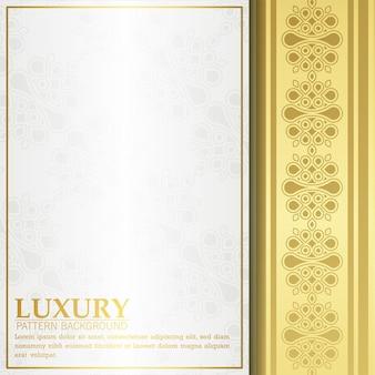 Capa de ornamento de luxo branco