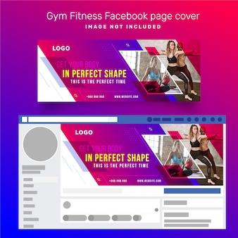 Capa de página para facebook de fitness