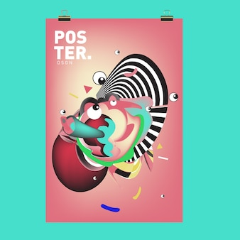 Capa de personagem e modelo de design de cartaz