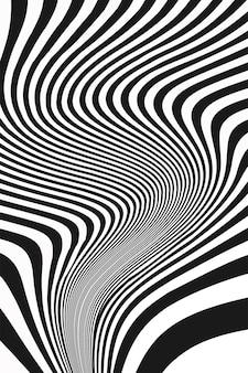 Capa de pôster com ilustração em cinza escuro incrível onda abstrata branca