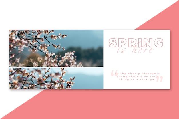 Capa de primavera do facebook