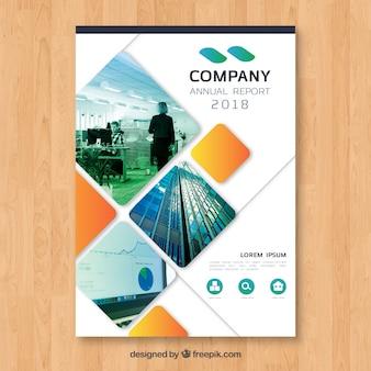 Capa de relatório anual com imagem