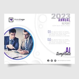 Capa de relatório anual de negócios