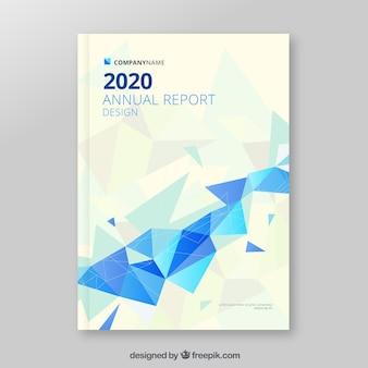 Capa de relatório anual poligonal