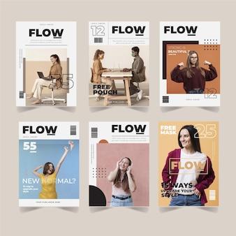 capa de revista com foto