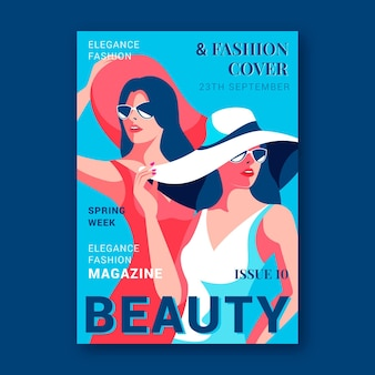 Capa de revista de beleza detalhada