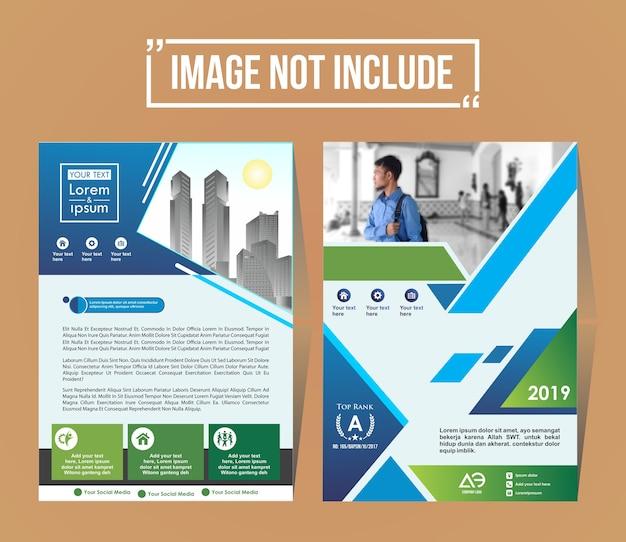 Capa de um layout de folheto empresarial moderno ou modelo de folheto