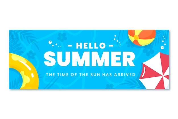 Capa de verão do facebook