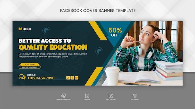 Capa do cronograma do facebook para admissão na educação escolar