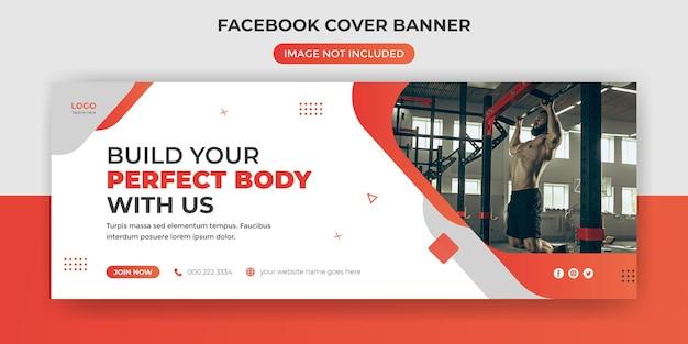 Capa do facebook da academia de ginástica ou postagem na mídia social do banner da web do instagram