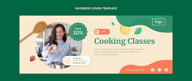 Capa do facebook da aula de culinária de design plano