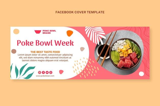 Capa do facebook de comida de design plano