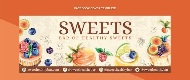 Capa do facebook de comida em aquarela