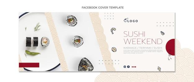 Capa do facebook de comida em estilo simples