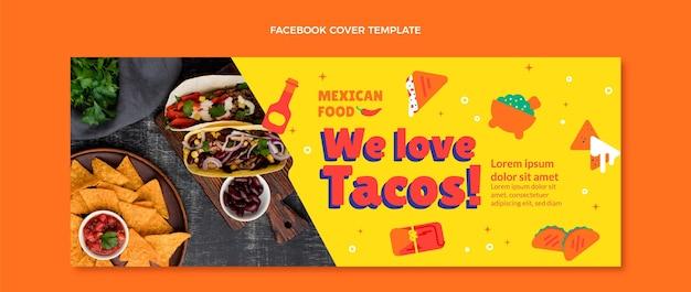 Capa do facebook de comida mexicana em estilo simples