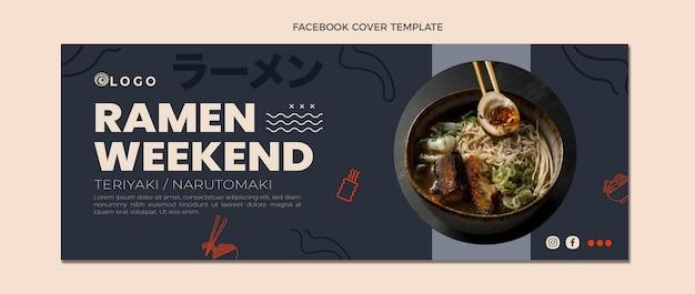 Capa do facebook de design plano