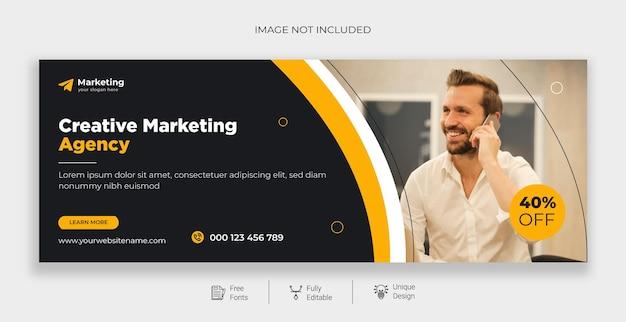 Capa do facebook de marketing digital e modelo de banner da web grátis