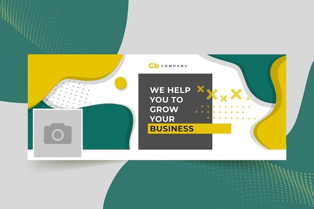 Capa do facebook de negócios abstratos