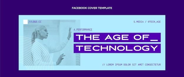 Capa do facebook de tecnologia plana mínima