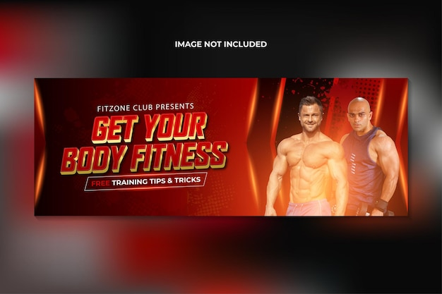 Capa do facebook de treinamento de ginásio de fitness e modelo de banner da web premium vector