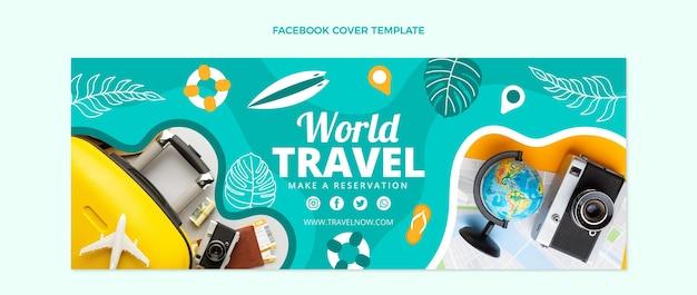 Capa do facebook de viagens de design plano