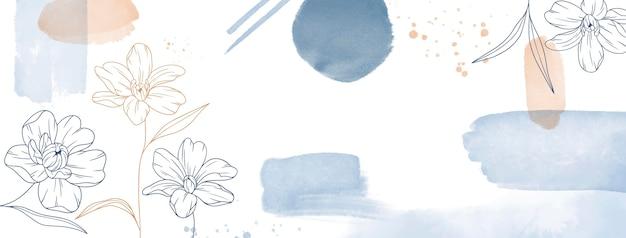Capa do facebook desenhada à mão em aquarela