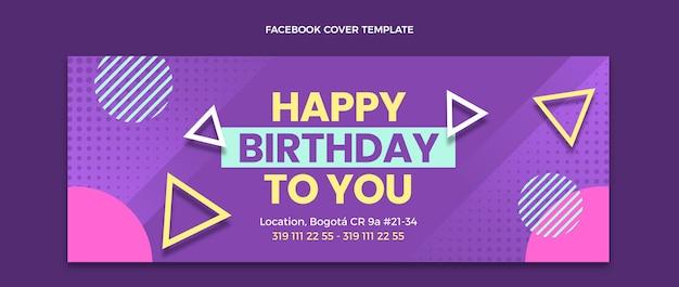 Capa do facebook do aniversário do gradiente em meio-tom