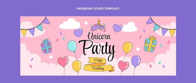 Capa do facebook do aniversário infantil desenhada à mão