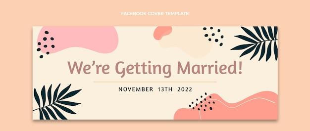 Capa do facebook do casamento abstrato em aquarela