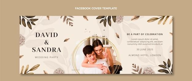 Capa do facebook do casamento boho em aquarela
