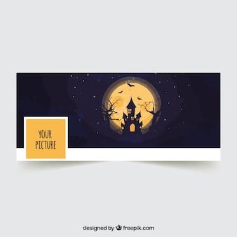 Capa do facebook do castelo de halloween